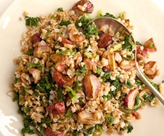 Roasted Radish & Farro Salad