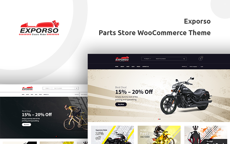 Fastest WooCommerce themes - Exporso