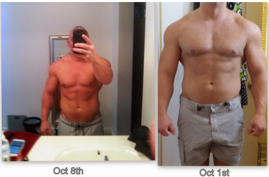 Alternate day fasting results transformation picture from Strozzo