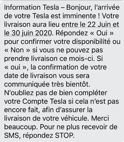 SMS TESLA MODEL 3
