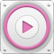 PlayerPro Cloudy Pink Skin file APK Free for PC, smart TV Download