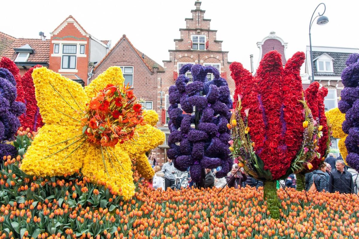 Парад цветов в парке Кёкенхоф