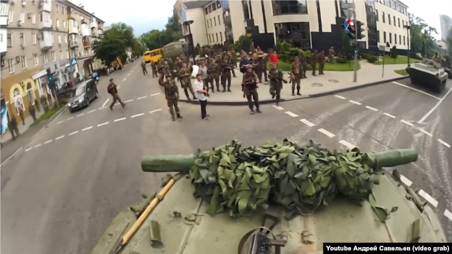 Колона російських найманців дісталася Донецька