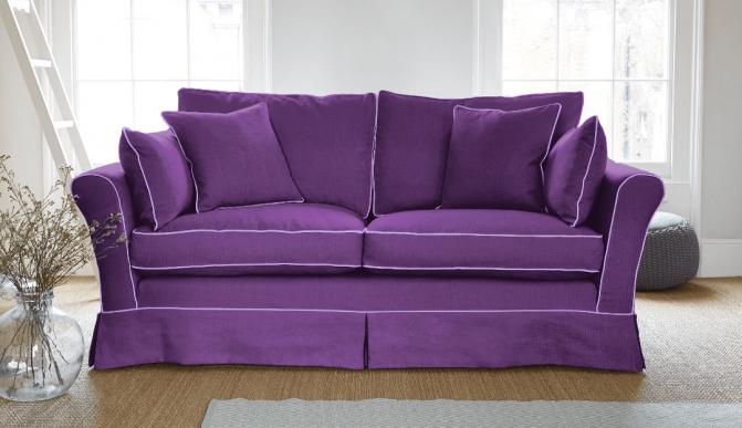 Ghế sofa màu tím sang trọng