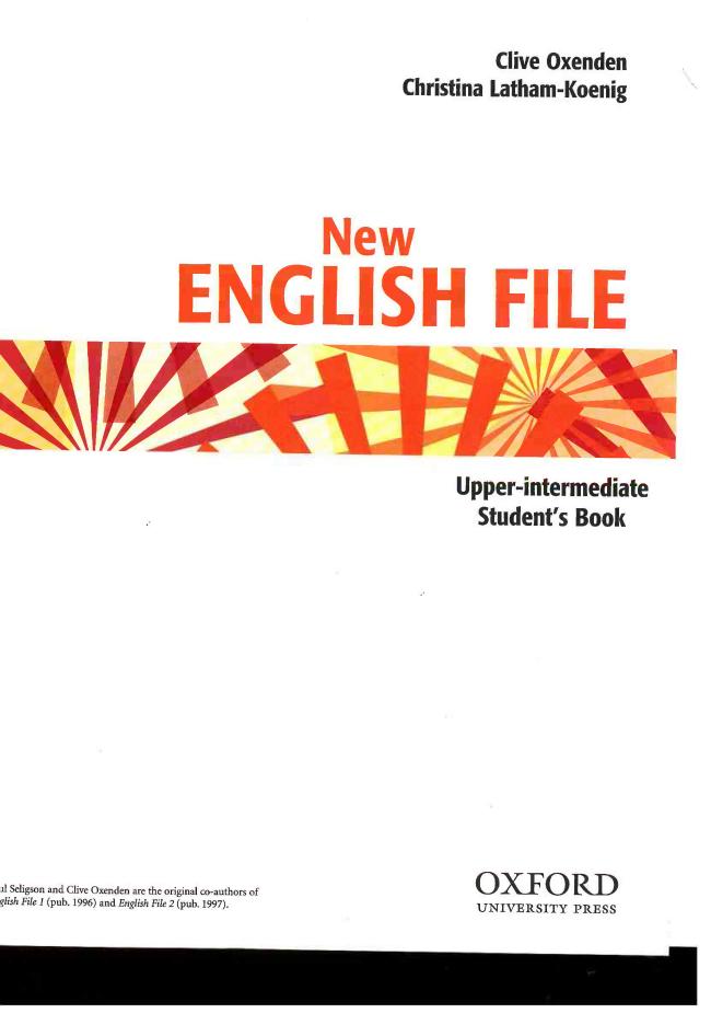 english file upper intermediate student's book pdf