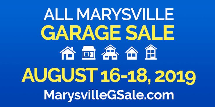 All Marysville Garage Sale August 16-18, 2019 banner