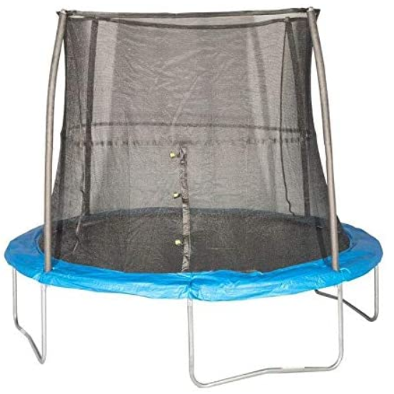 #1. JumpKing 10-foot Round Trampoline with Enclosure