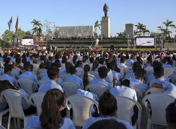切格拉瓦位於古巴中部聖克拉拉省(Santa Clara)的紀念館與雕像。(歐新社)