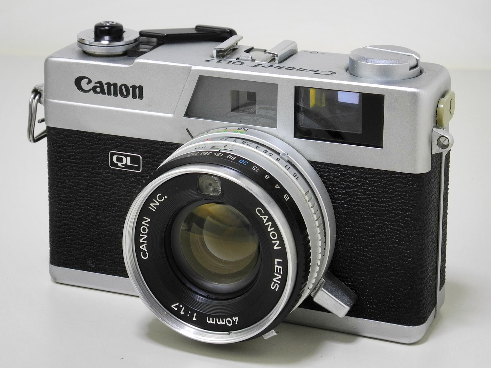 A photo of the Canonet QL17 35mm film camera