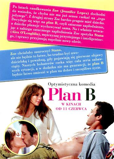 Tył ulotki filmu 'Plan B'