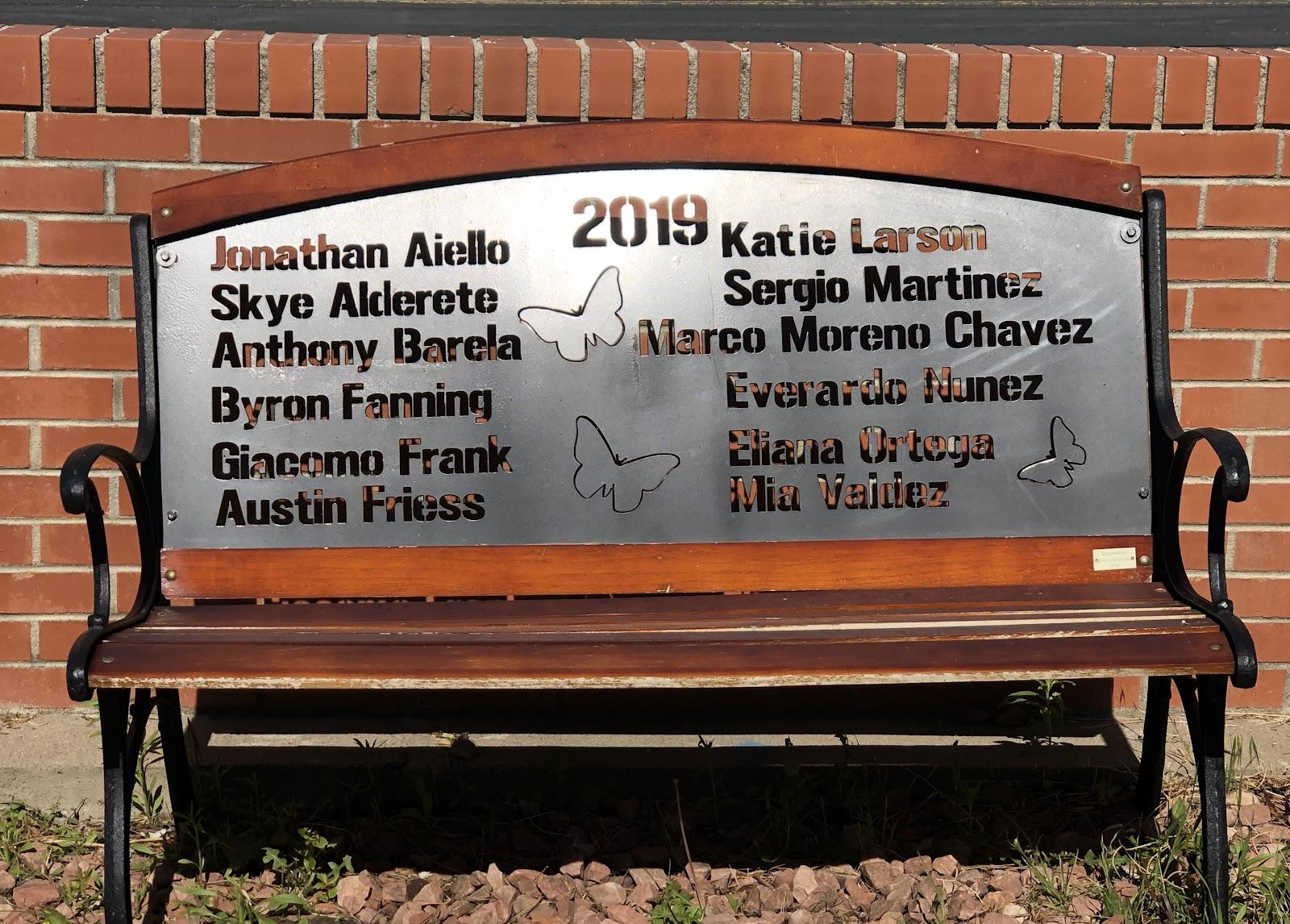 Assumption School - Class of 2019 Bench Butterfly Garden
