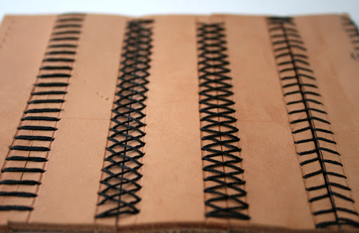 Types of leather stitch