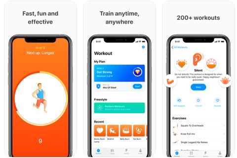 Træning apps til træning derhjemme: Seven