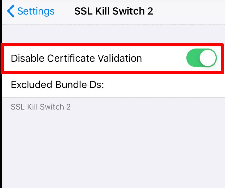 SSL kill switch 2