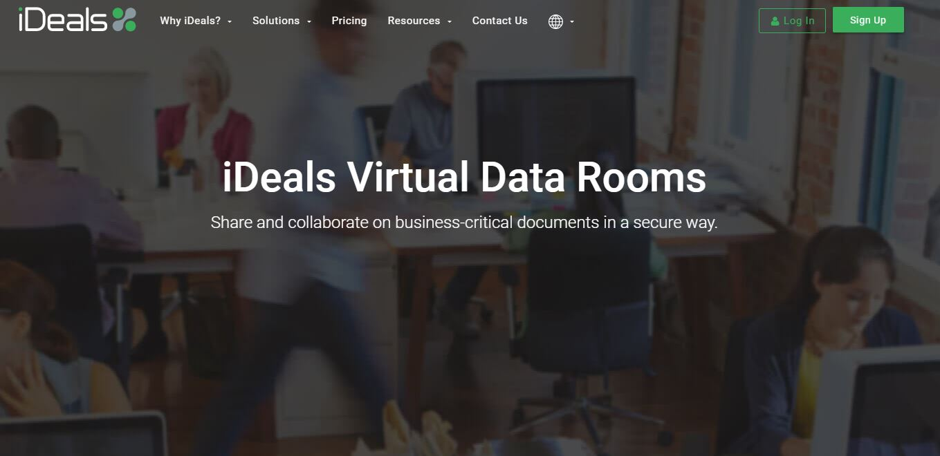 iDeals is one of the virtual data room providers
