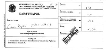 Brazil visa extention form