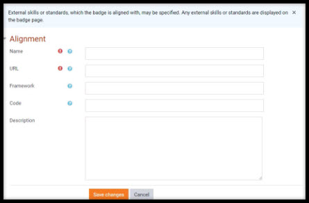 Screenshot showing alignment tab