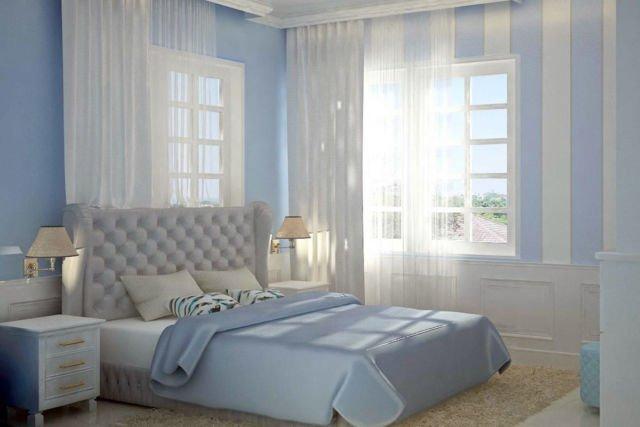 Cảm ứng của nhiều màu xanh trong thiết kế nội thất mang ấn tượng mát mẻ và thanh lịch