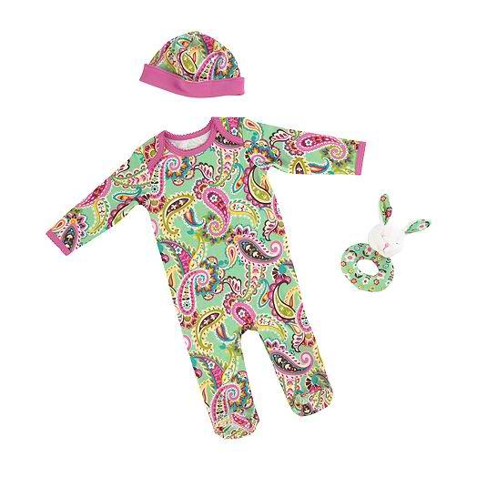 3 pc. Layette Set in Tutti Frutti