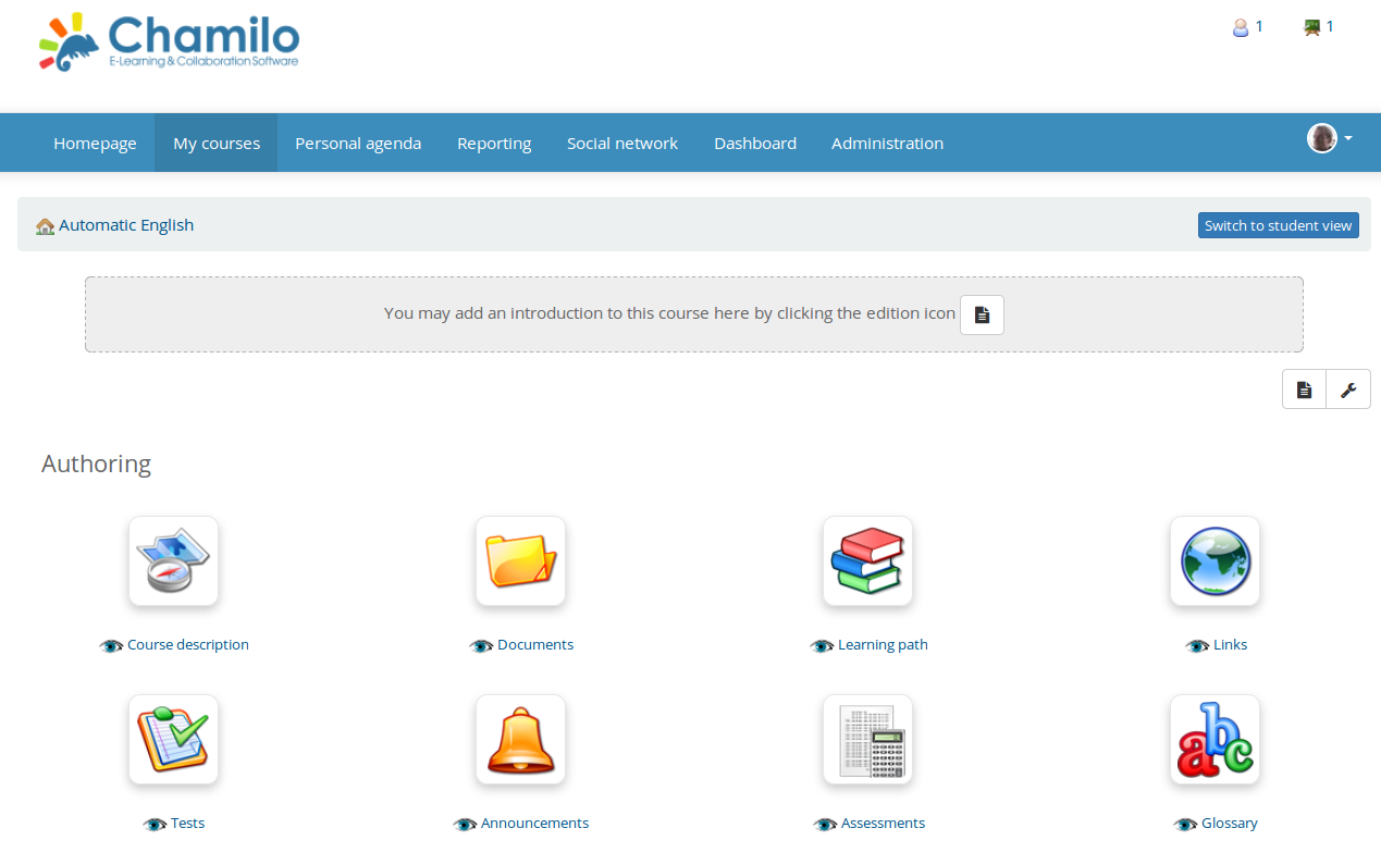 Chamilo open-source gamification tool