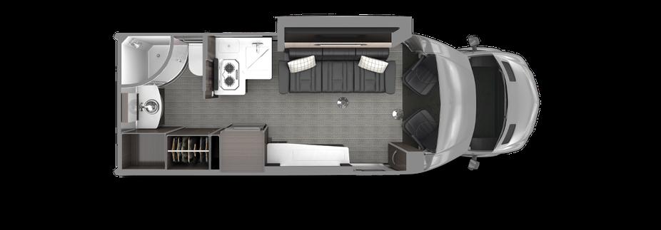 Airstream Atlas Touring Coach floor plan luxury class c