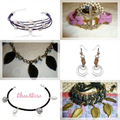Pendientes, pulseras Swarovski y brazaletes de Rhea&Rose