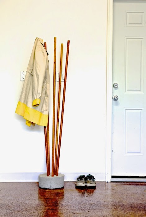 Ana White Modern Concrete And Broomstick Coat Tree Diy