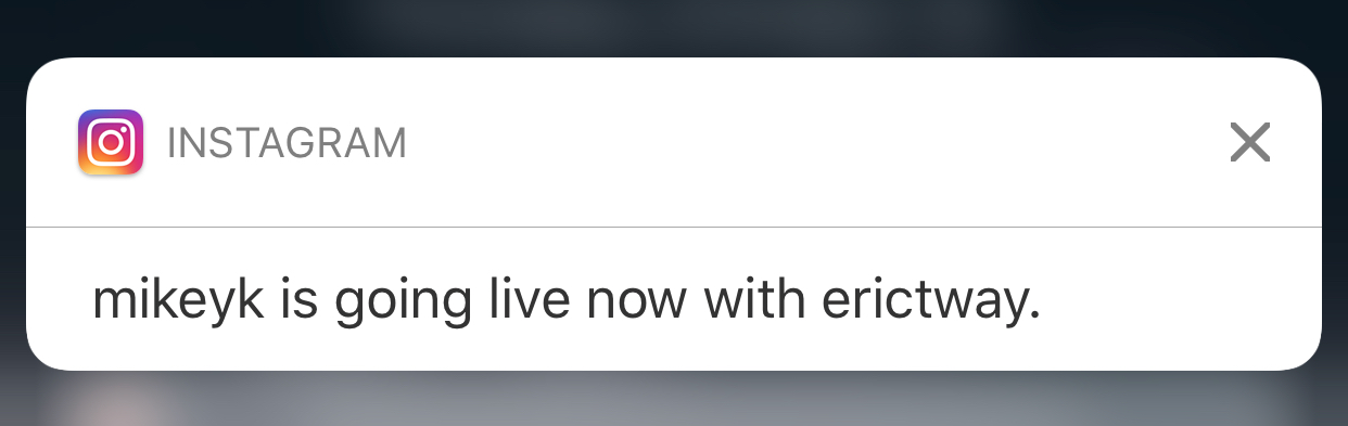 Live events push notifications for web and mobile app development