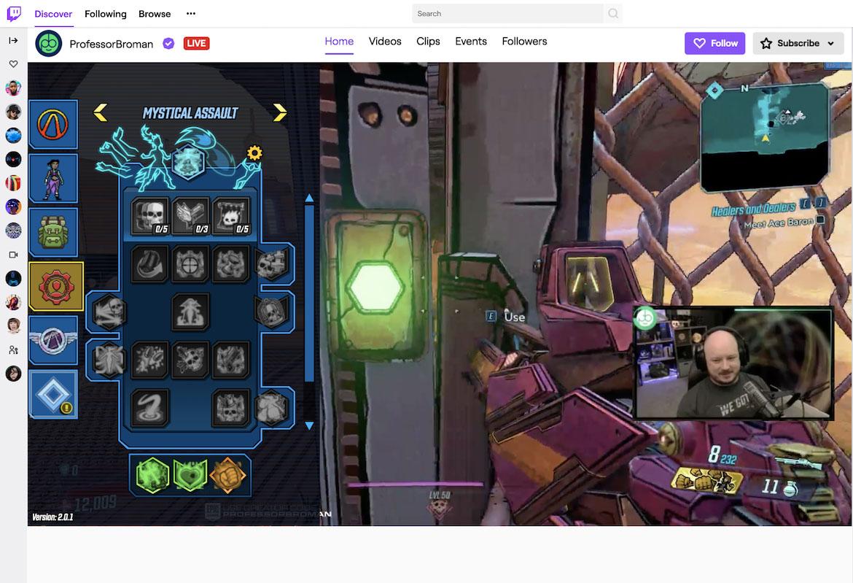 Screenshot of the Twitch Virtual Event Platform