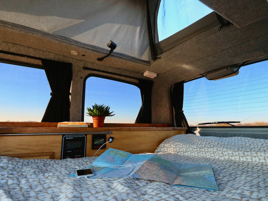 campervan and nature