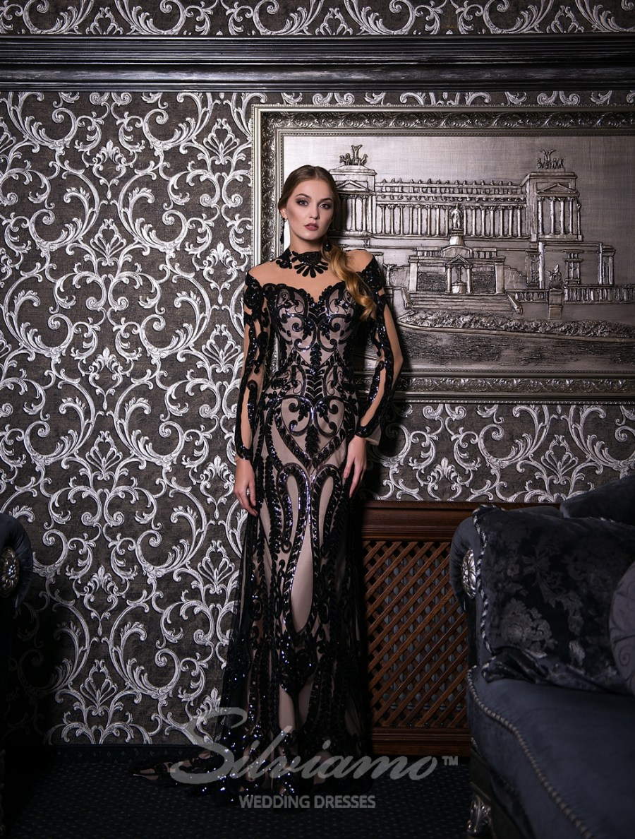 Облигающее вечернее  платье оптом от Silviamo