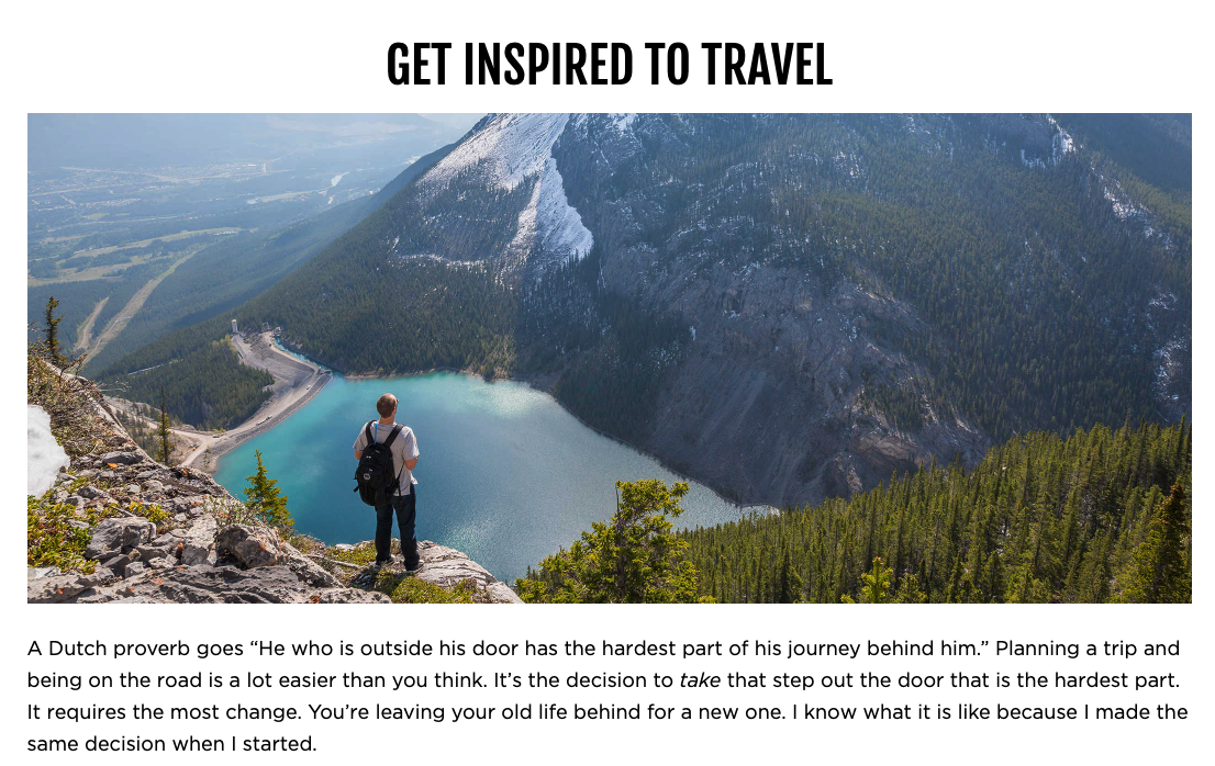 get inspired to travel