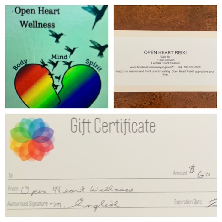 It's time to treat yourself to some relaxation and healing with this gift certificate that allows you to choose either a Reiki or Aroma Touch session.  Mary English is a Life Coach and works with individuals who are struggling with having balance in their lives, going through grief due to the loss of a loved one, job, pet, or trying to find their place in life.  Reiki, doTerra Oils, and Aroma Touch are items in her toolbox that she loves and finds beneficial for all, especially with what we've been experiencing this past year. May loves working and interacting with people to see their own amazing potential and reclaim their balance.