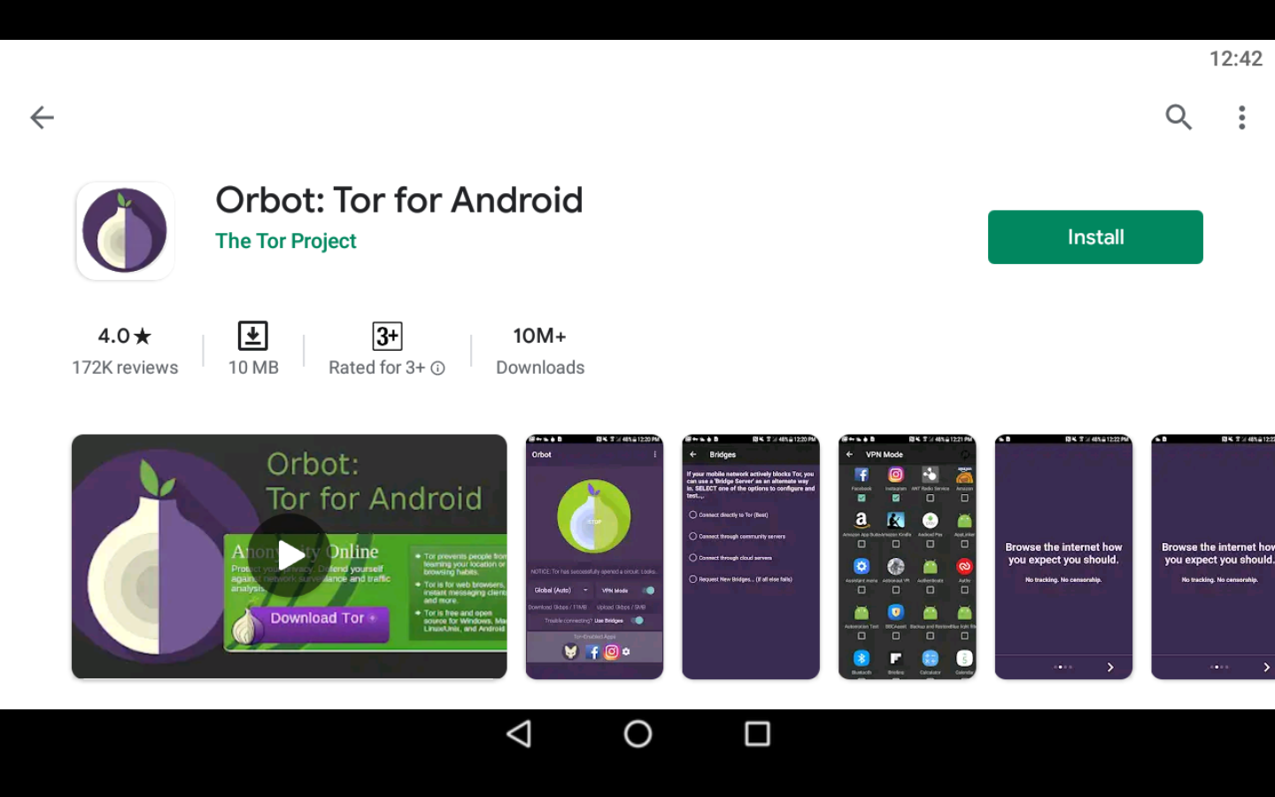 Orbot app on PC