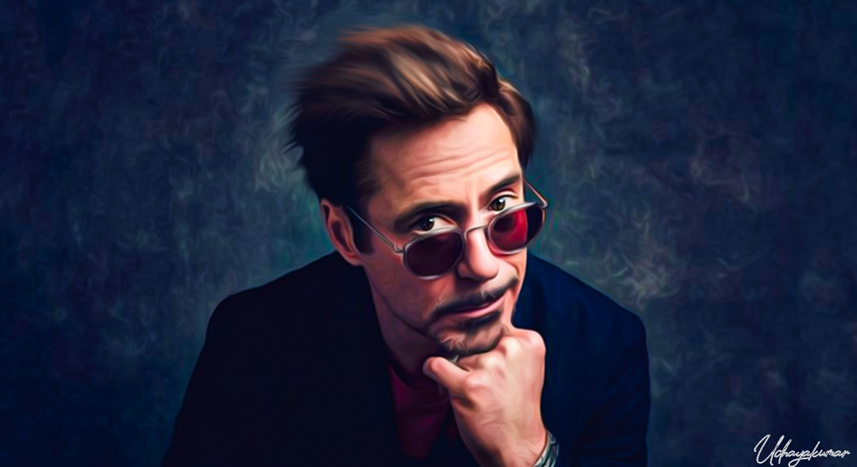 Painting of Iron Man, Robert Downey Jr.