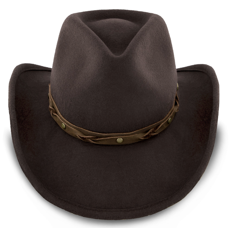 Wool felt cowboy hat