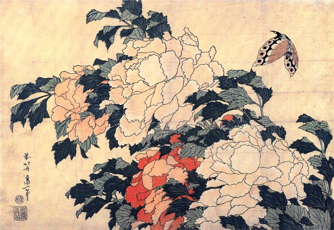 C:\Users\K\Google Drive\ΕΡΓΑ\Ατελη\Πεταλουδα\Hokusai, peonies-with-butterfly.jpg