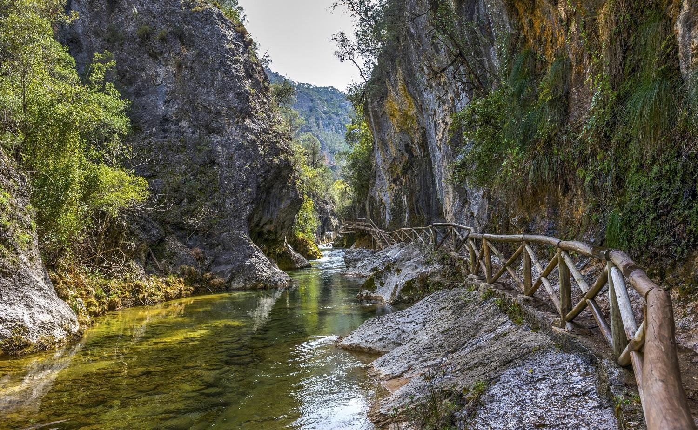 Pasarelas del río Borosa en la Sierra de Cazorla