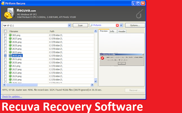 Recovery Free photo recovery software