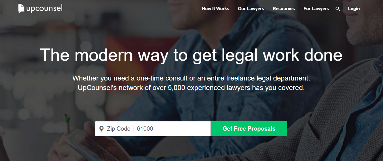 UpCounsel online consulting marketplace