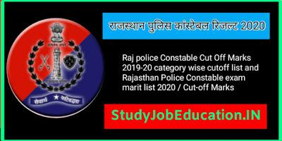 Rajasthan Police Constable Result 2021 Study Job Education