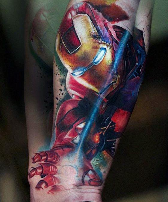 ลายสัก Marvelแขน
