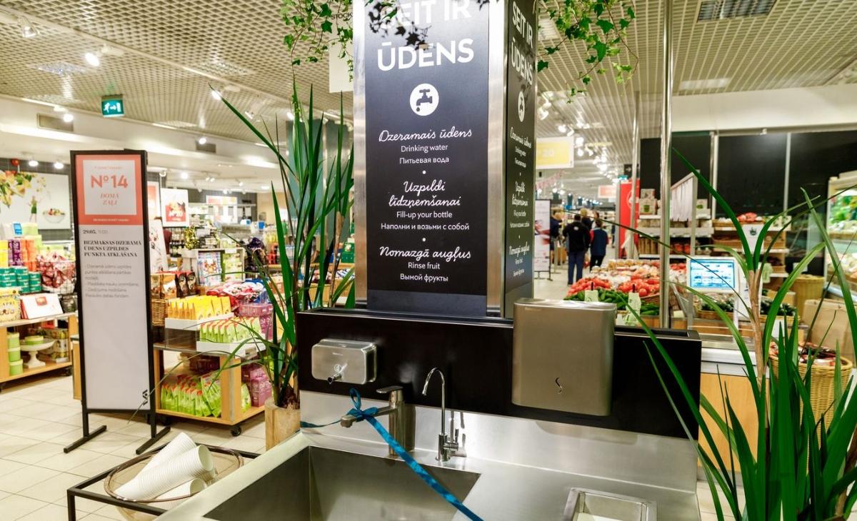 Kur Rīgā uzpildīt ūdeni lielveikalos
