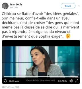 Sophia Chikirou sur BFM TV, interviewée par Ruth Elkrief
