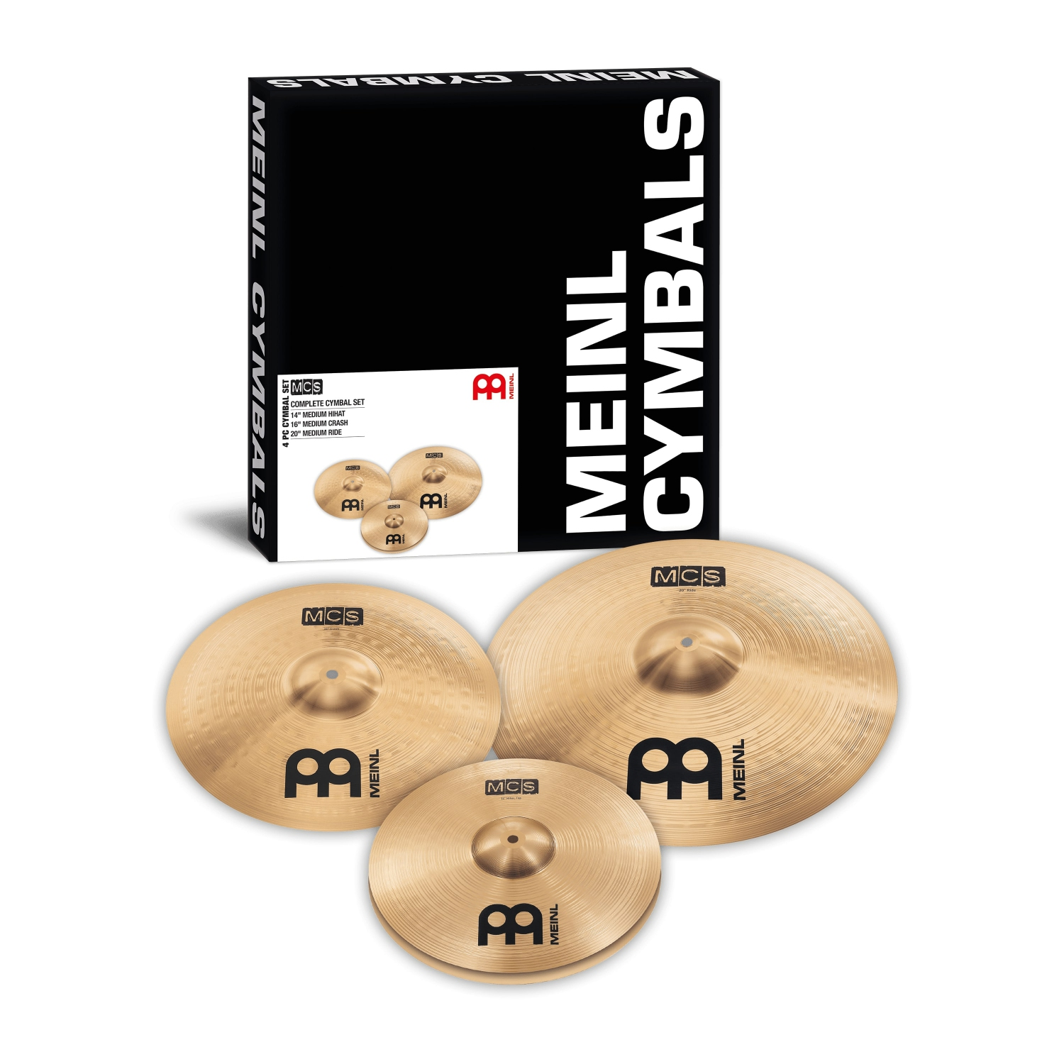 "MEINL MCS141620 14""HH/16""C/20""R CYMBAL SET  Buying Your First Drum Kit"