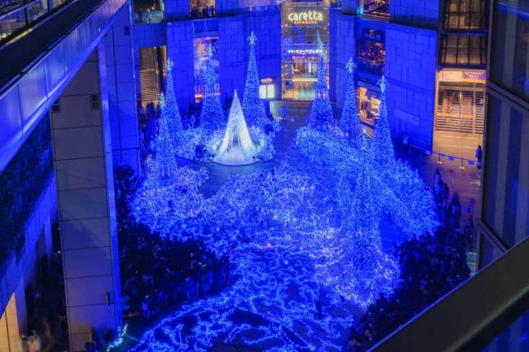 Caretta shiodome tokyo winter illuminations