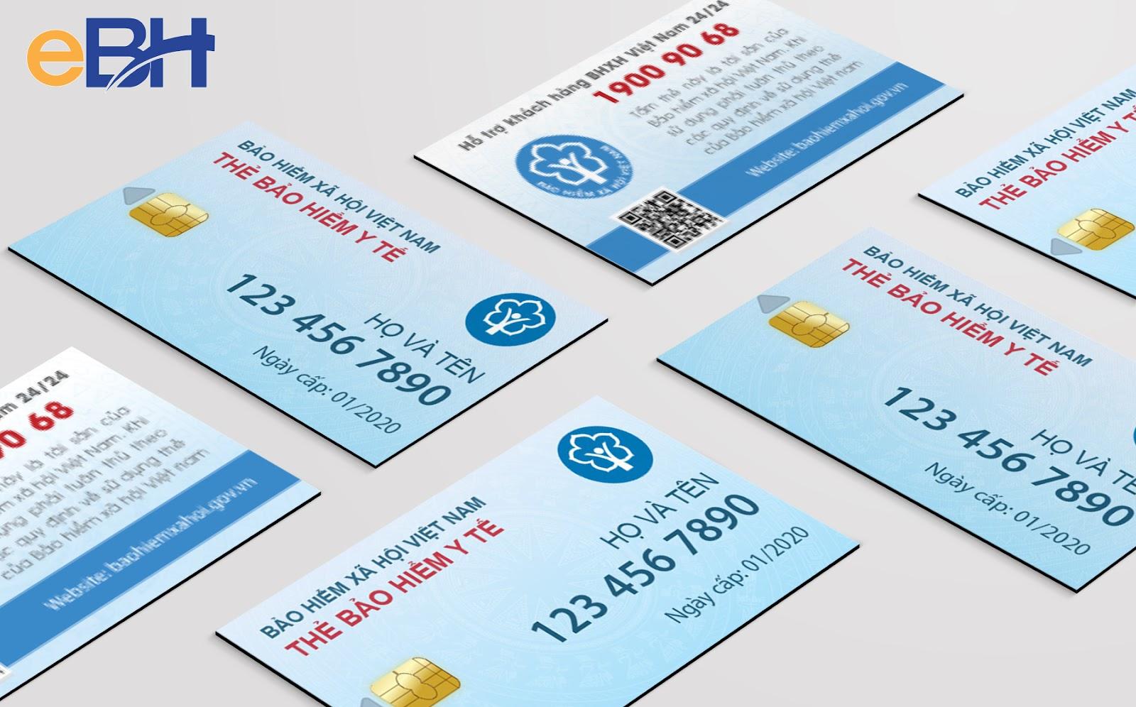 Mẫu thẻ bảo hiểm y tế điện tử mới - ảnh