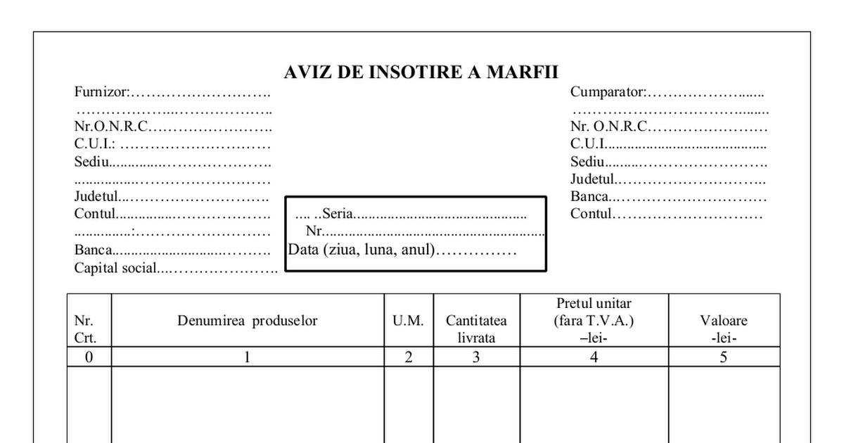 AVIZ DE INSOTIRE MARFA PDF