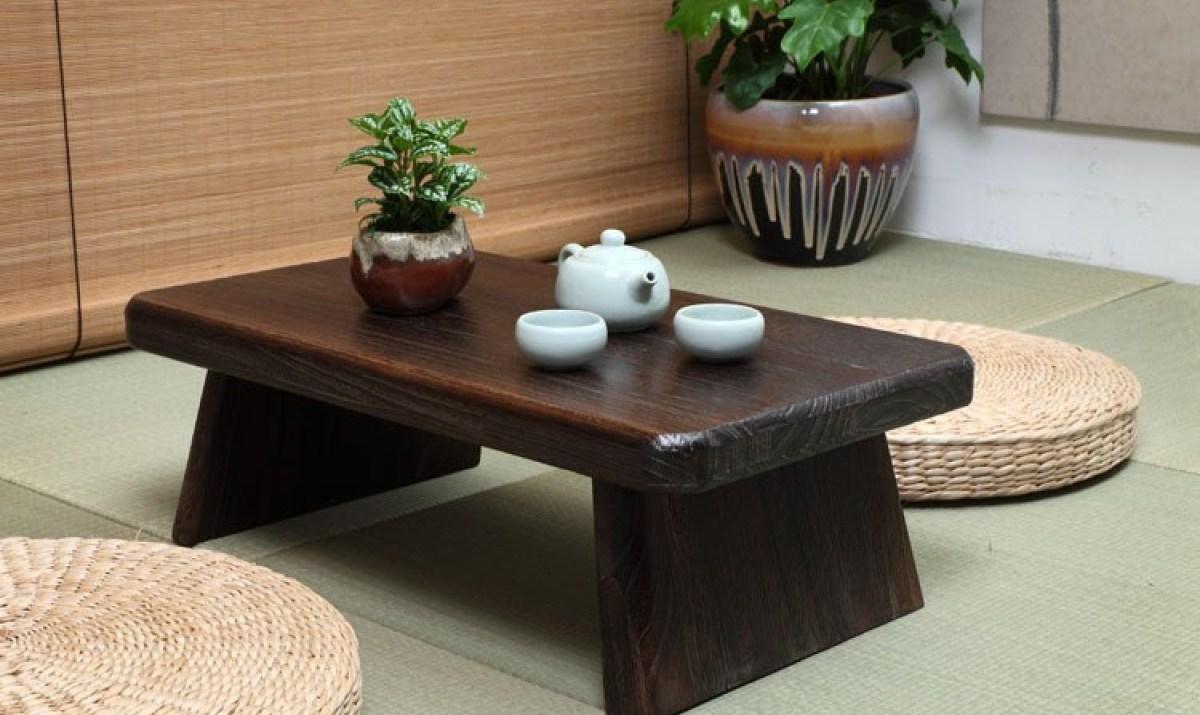 Bàn trà Nhật bằng chất liệu gỗ tự nhiên