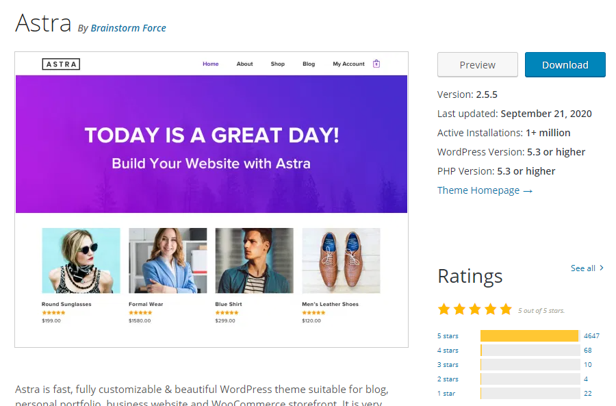 Astra-WordPress-theme best free wordpress theme for blog